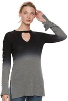 Rock & Republic Women's Dip-Dyed Lace Up Sweater