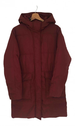 Everlane Burgundy Synthetic Coats