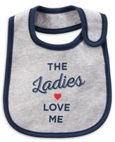 "Carter's ""Ladies Love Me"" Bib in Grey"