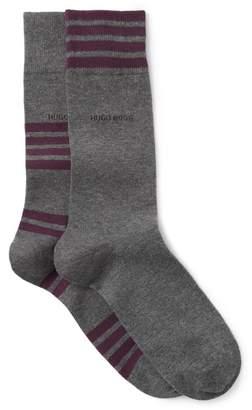 BOSS Striped Crew Socks - Pack of 2