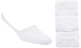 John Lewis Trainer Socks, Pack Of 3, One Size, White