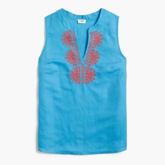 J.Crew Embroidered bib sleeveless top