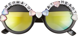 Rad + Refined Mermaid At Heart Round Sunglasses