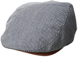 San Diego Hat Company SDH3323 - Linen Blend Stripe Driver (Navy) Caps
