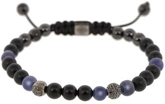 Shamballa Jewels Blue Sapphire and Onyx Bead Bracelet