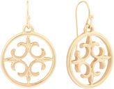 Liz Claiborne Gold-Tone Round Drop Earrings