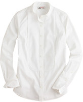 Thomas Mason for J.Crew mandarin-collar tuxedo shirt
