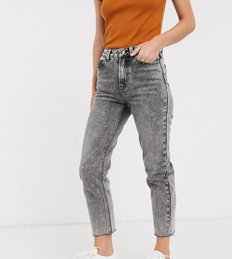 Only Petite high waisted denim jean in acid wash