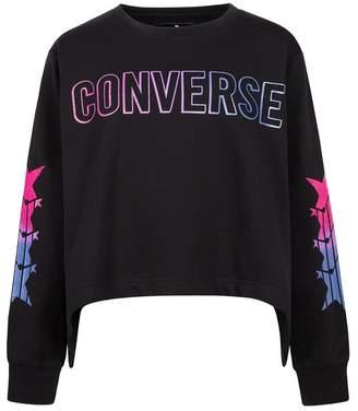 Converse Sharkbite Hem Sweatshirt (Big Girls)