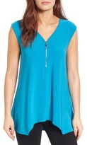 Chaus Women's Zip V-Neck Top