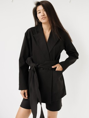 Michael Lo Sordo Deconstructed Wrap Jacket