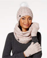 Betsey Johnson Pearly Girl Gloves, Hat and Scarf Set