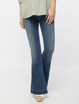 A Pea in the Pod Luxe Essentials Denim Secret Fit Belly Flare Maternity Jeans