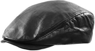 Black Brown 1826 Leather Ivy Cap