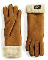 UGG Women's Shearling Cuff Suede Gloves