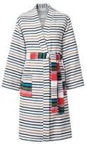 Sonia Rykiel Rue De Nevers Blanc Striped Bath Robe
