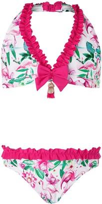 Monsoon Girls S.E.W. Floella Flamingo Bikini - Pale Pink