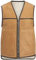 Joseph Suede Sheepskin Reversible Lincoln Gilet in Cognac