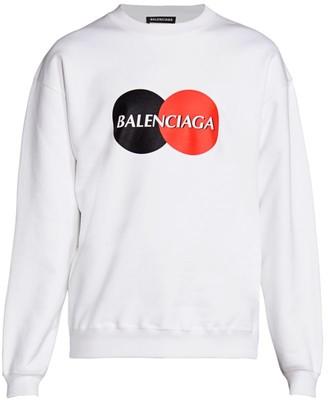 Balenciaga Logo Cotton Sweatshirt