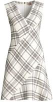 Rebecca Taylor Tailored Windowpane Plaid Tweed Dress