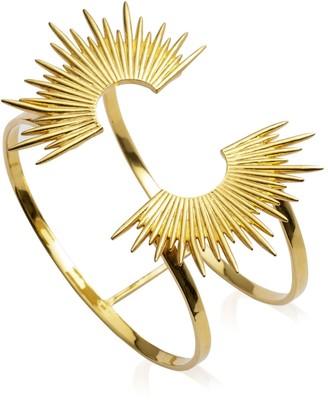 Rachel Jackson London Electric Goddess Statement Sun Bangle Gold