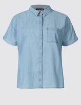 M&S Collection Pure Cotton Short Sleeve Shirt