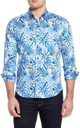 Robert Graham Prose Regular Fit Stretch Print Button-Up Shirt