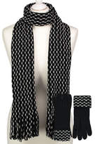 George Woven Scarf and Gloves Set