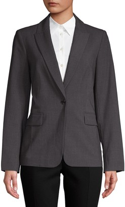 Calvin Klein Collection One-Button Blazer
