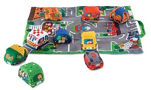 Melissa & Doug Take Along Town Play Mat- Ages 6 Months+