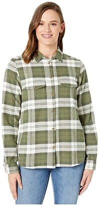 Fjallraven Ovik Heavy Flannel Shirt (Green) Women's Clothing