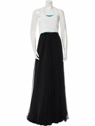 Prabal Gurung Embellished Two-Piece Gown w/ Tags Black