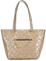 Kate Landry Metallic Snake Chain Swag Top-Zip Tote