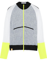 Monreal London Perforated Stretch-Jersey And Shell Jacket