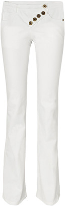 Chloé Button-detailed Mid-rise Bootcut Jeans