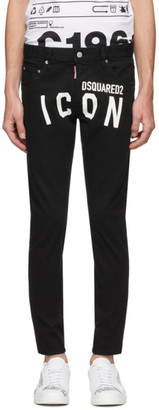 DSQUARED2 Black Overdye Dan Jeans