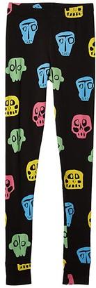 Nununu Rowdy Masks Leggings Colorful (Little Kids/Big Kids) (Colorful Black) Girl's Clothing