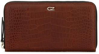 Giuseppe Zanotti Embossed Croc-Effect Zipped Wallet