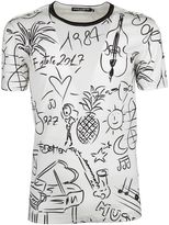 Dolce & Gabbana Tropical Music Print T-shirt