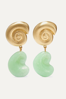 Leigh Miller - Net Sustain Nautilus Gold-plated Glass Earrings