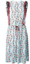 I'M Isola Marras floral print drawstring dress - women - Polyamide/Polyester - 42