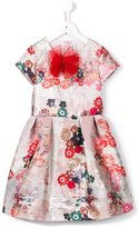 Simonetta floral jacquard dress - kids - Cotton/Polyester/metal - 8 yrs