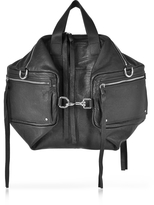 McQ Loveless Black Leather Convertible Holdall