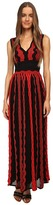 M Missoni Sheer Greek Key Long Gown