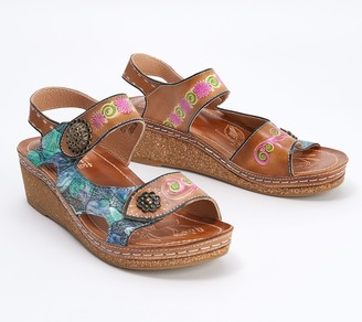 Spring Step L'Artiste by Leather Wedges - Tiffinal