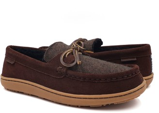 Pendleton Men's Suede And Wool Slippers - Rancho Moc