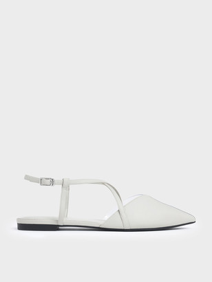 Charles & Keith See-Through Effect Criss Cross Sandals