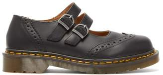 Comme des Garcons X Dr Martens Dolly Buckled Leather Brogues - Womens - Black