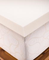 "CLOSEOUT! Authentic Comfort 4"" Memory Foam Full Mattress Topper"