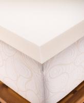"CLOSEOUT! Authentic Comfort 4"" Memory Foam Queen Mattress Topper"
